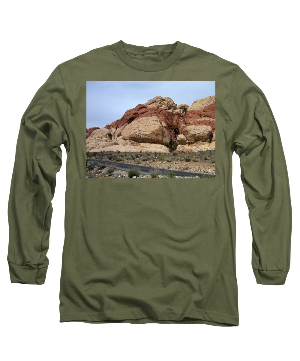 Red Rock Canyon Long Sleeve T-Shirt featuring the photograph Red Rock Canyon 2 by Anita Burgermeister