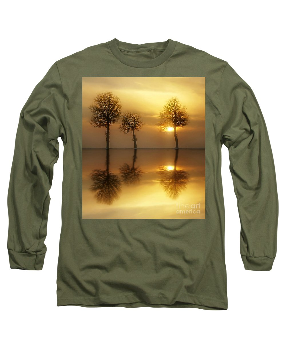 Sunset Long Sleeve T-Shirt featuring the photograph Remains Of The Day by Jacky Gerritsen