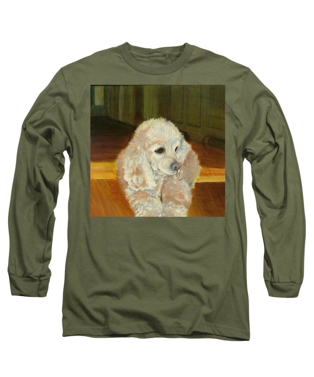 Animal Long Sleeve T-Shirt featuring the painting Remembering Morgan by Paula Emery