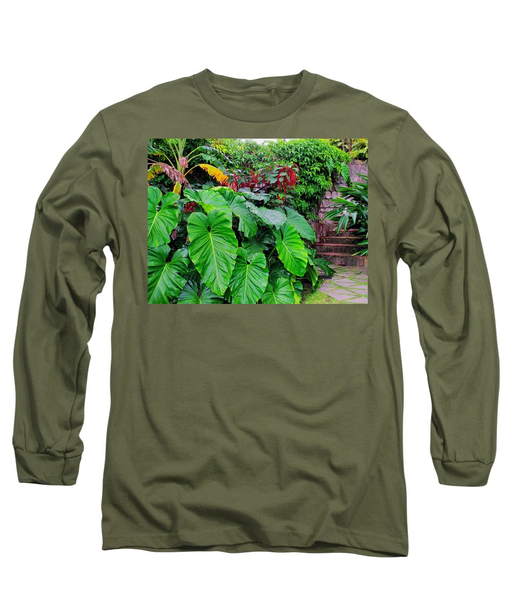 Lush Long Sleeve T-Shirt featuring the photograph Romney Steps by Ian MacDonald