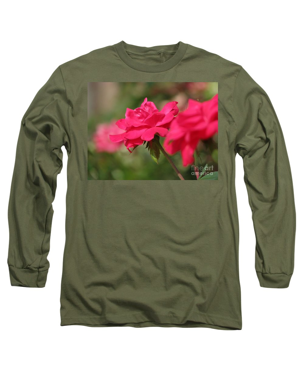 Rose Long Sleeve T-Shirt featuring the photograph Roses by Amanda Barcon
