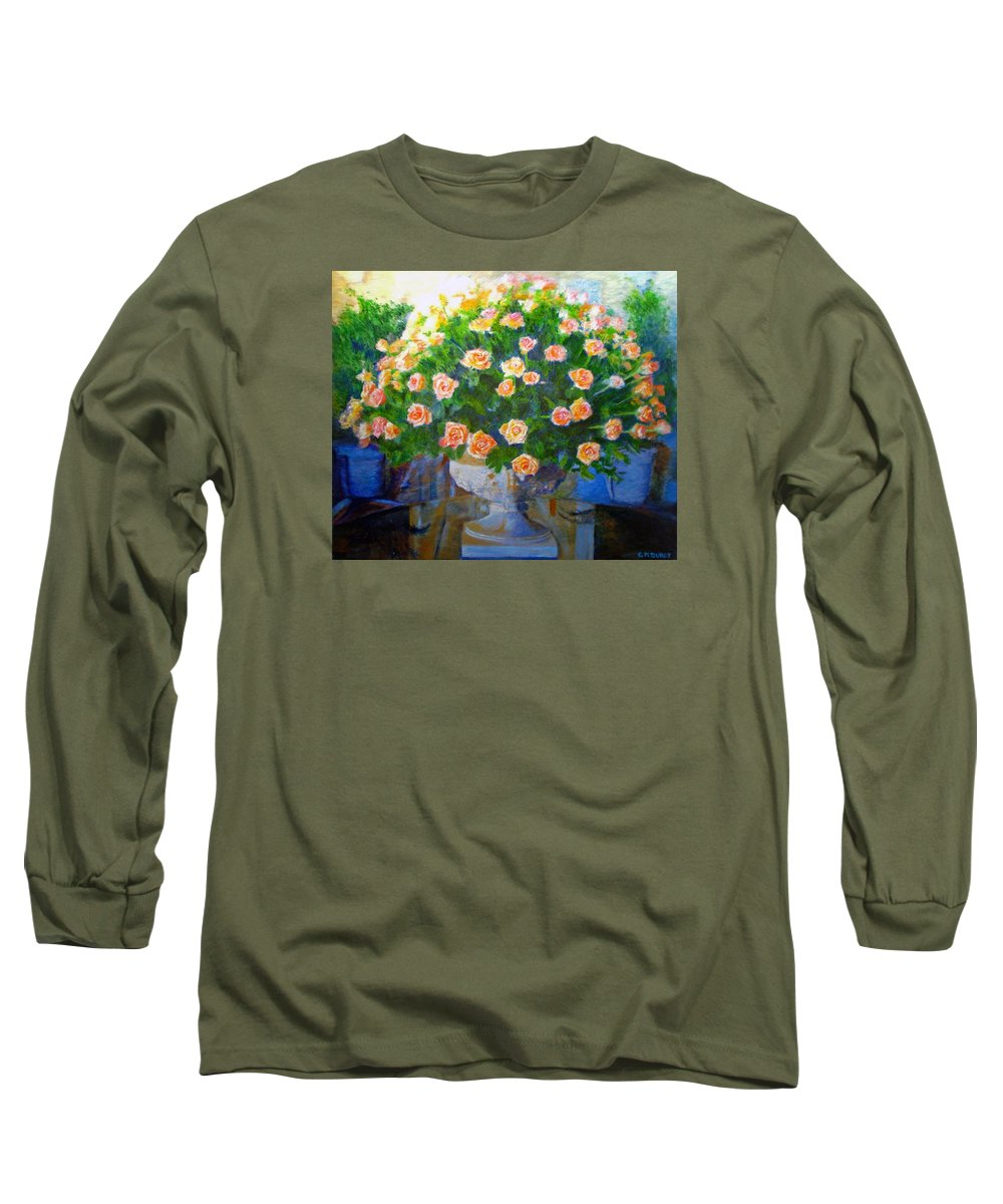 Rose Long Sleeve T-Shirt featuring the painting Roses At Table Bay by Michael Durst