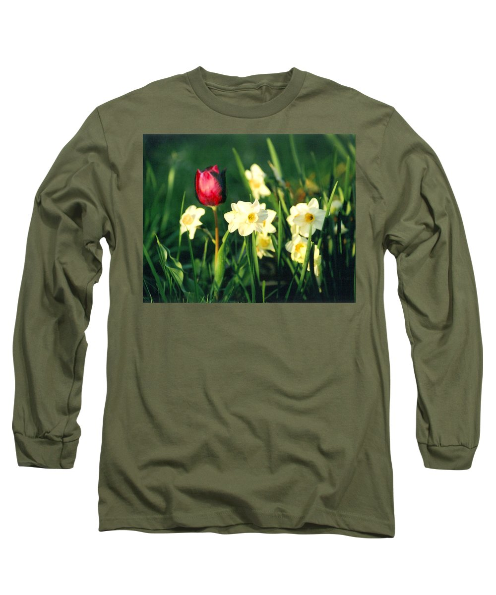 Tulips Long Sleeve T-Shirt featuring the photograph Royal Spring by Steve Karol