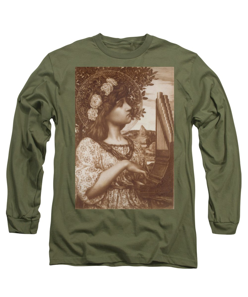 Saint Cecilia Long Sleeve T-Shirt featuring the painting Saint Cecilia by Henry Ryland