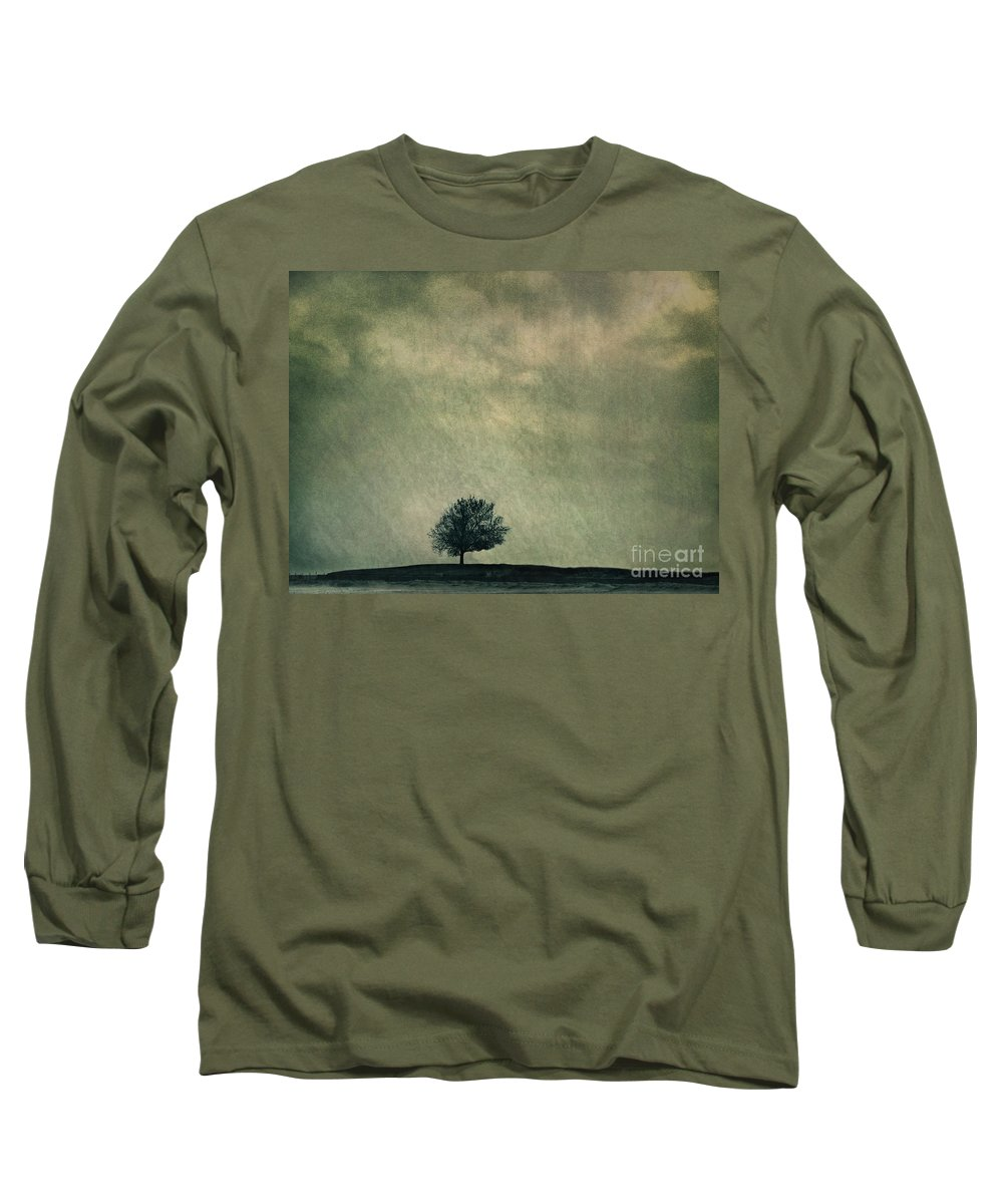 Blue Long Sleeve T-Shirt featuring the photograph Screaming At The Top Of My Voice by Dana DiPasquale