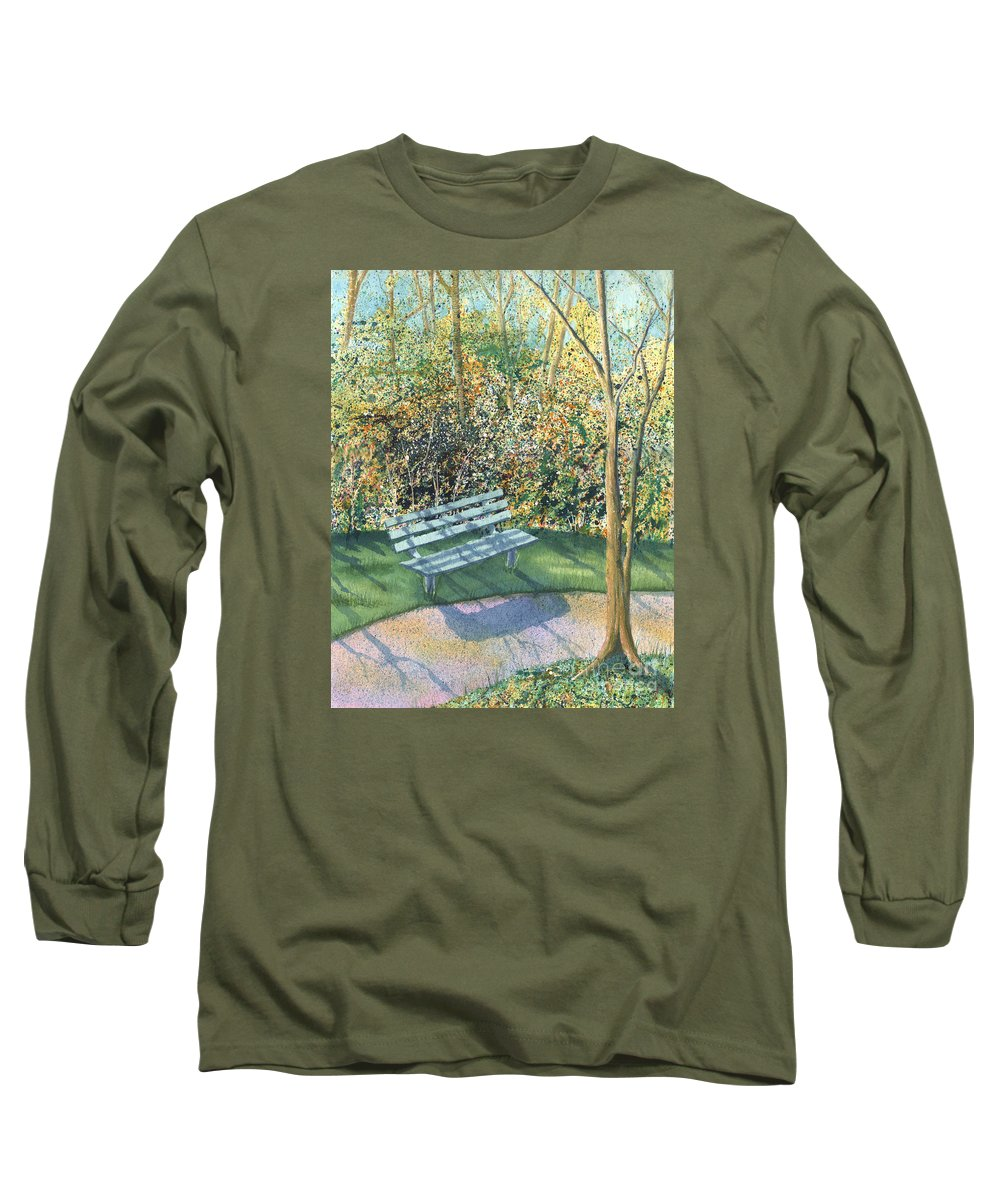 Autumn Trees Long Sleeve T-Shirt featuring the painting September Afternoon by Lynn Quinn