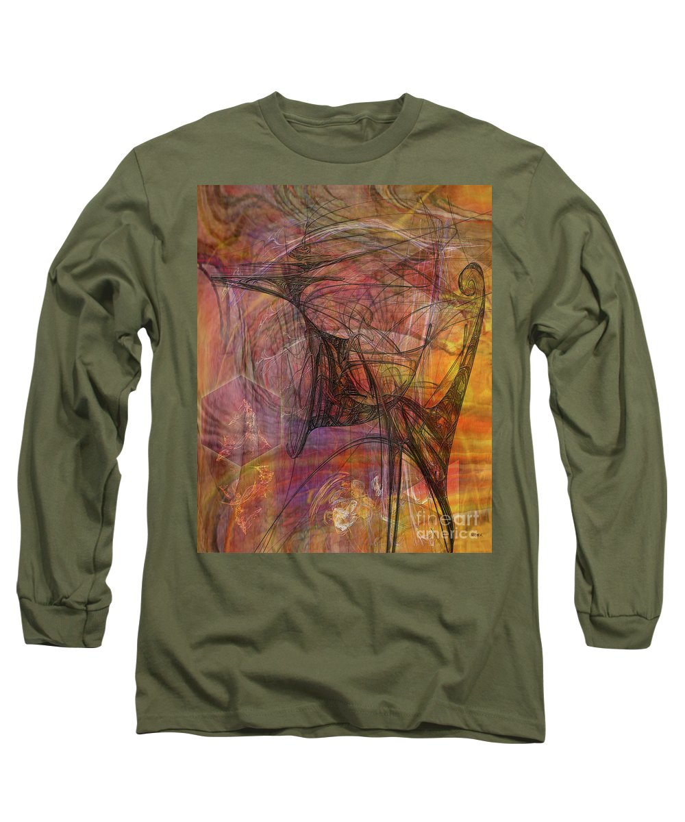 Shadow Dragon Long Sleeve T-Shirt featuring the digital art Shadow Dragon by John Beck