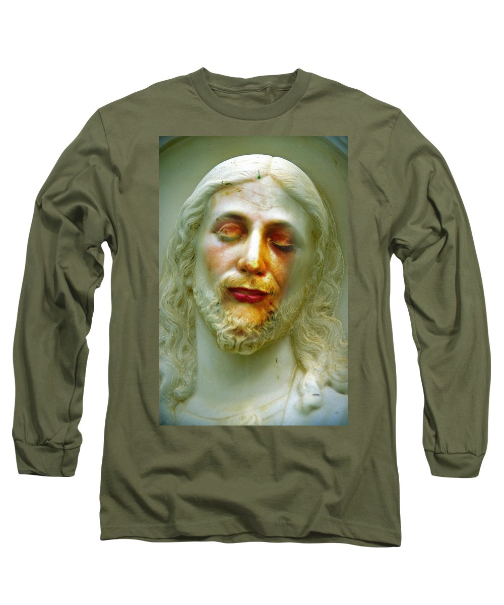 Jesus Long Sleeve T-Shirt featuring the photograph Shesus by Skip Hunt