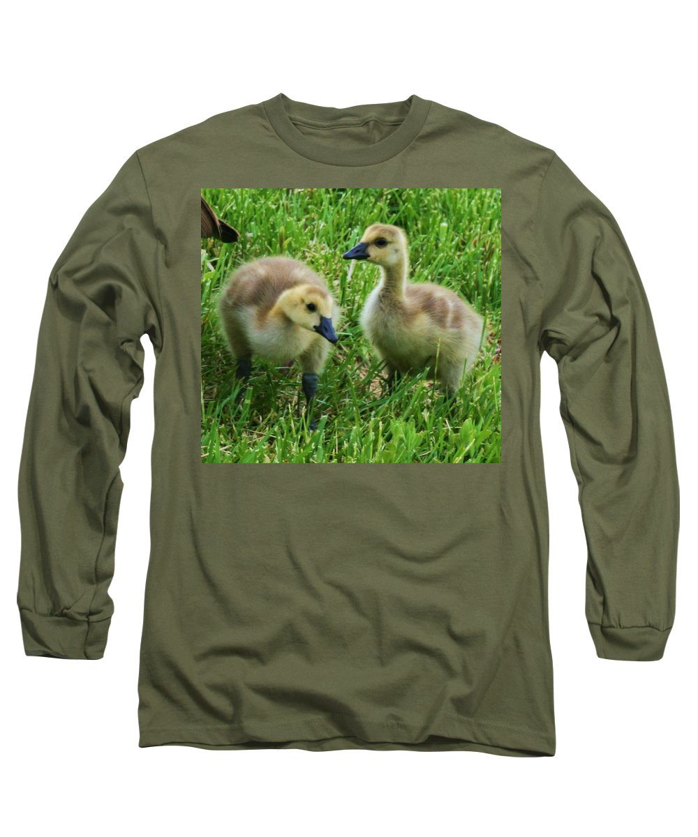 Nature Long Sleeve T-Shirt featuring the photograph Siblings by Angus Hooper Iii