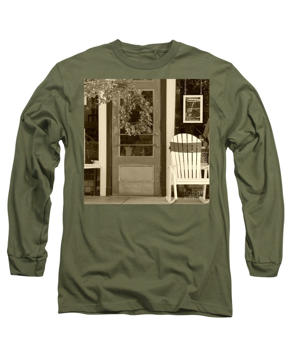 Rocking Chair Long Sleeve T-Shirt featuring the photograph Simple Times by Debbi Granruth