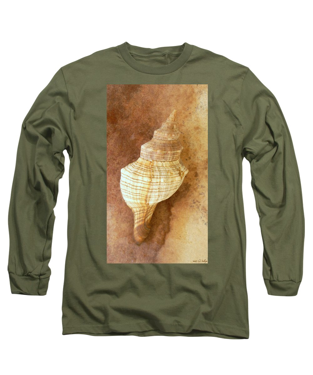Still Life Long Sleeve T-Shirt featuring the photograph Sounds Of The Sea by Holly Kempe