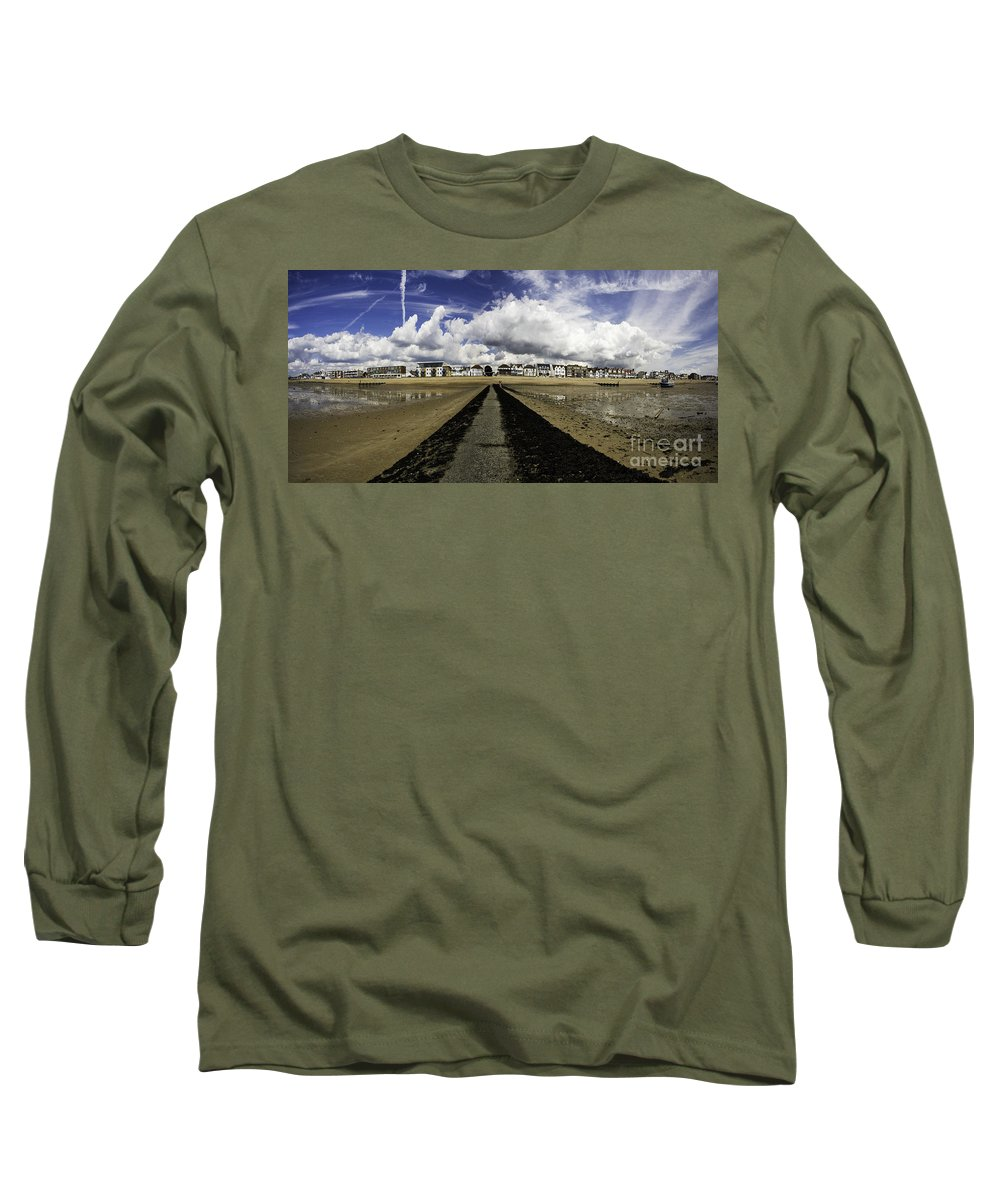 Southend On Sea Long Sleeve T-Shirt featuring the photograph Southend On Sea Panorama by Sheila Smart Fine Art Photography