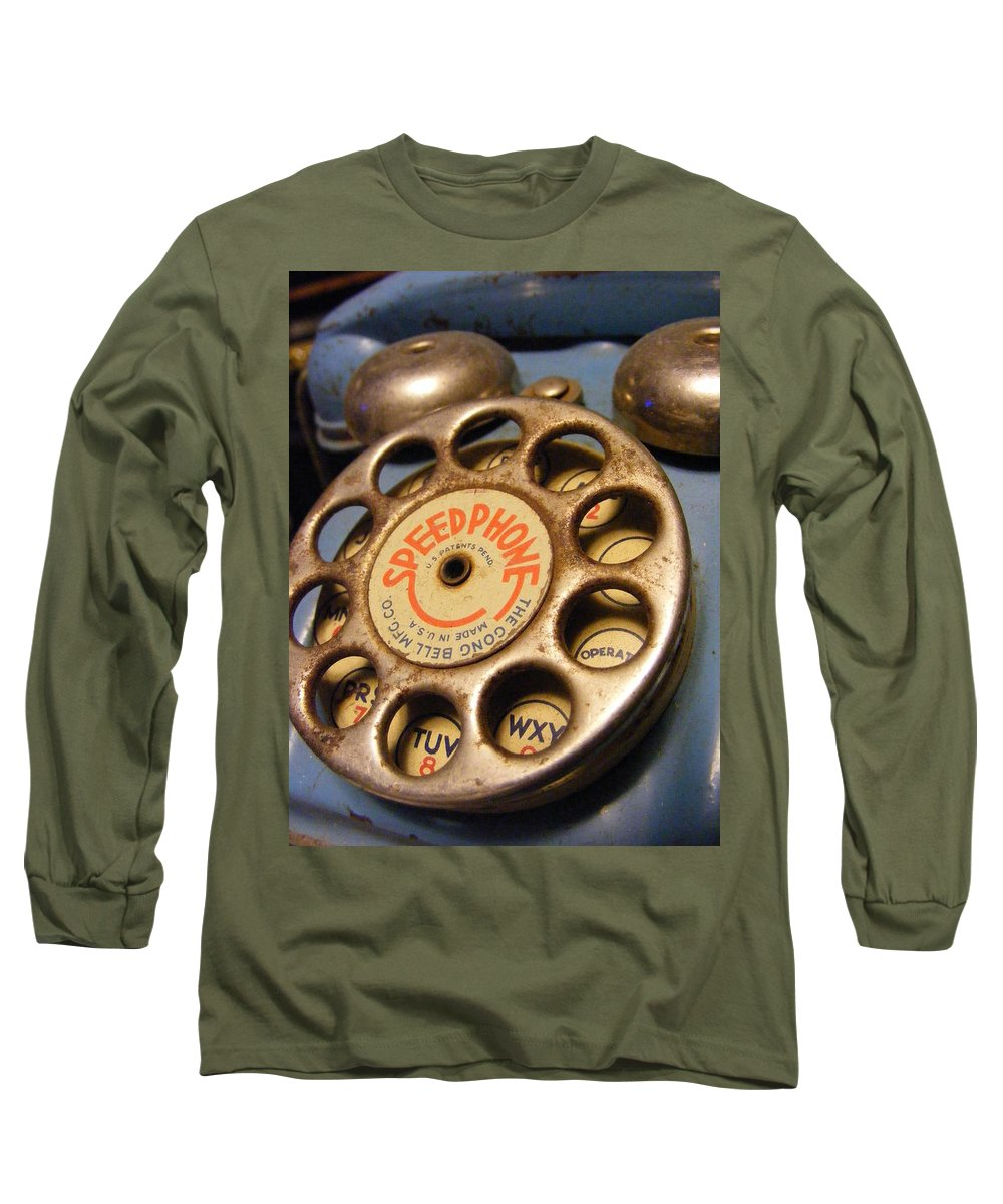 Phone Long Sleeve T-Shirt featuring the photograph Speed Phone by Ed Smith