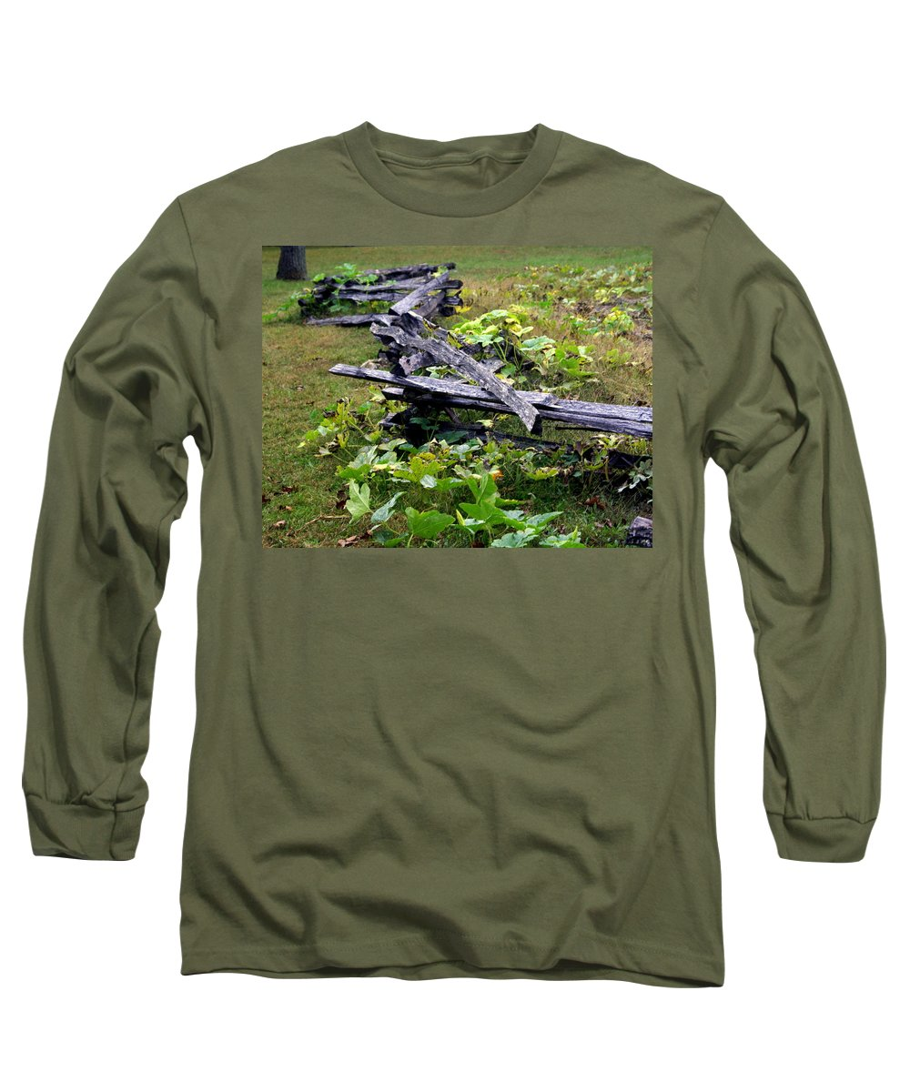 Landscape Long Sleeve T-Shirt featuring the photograph Split Rail by Marty Koch