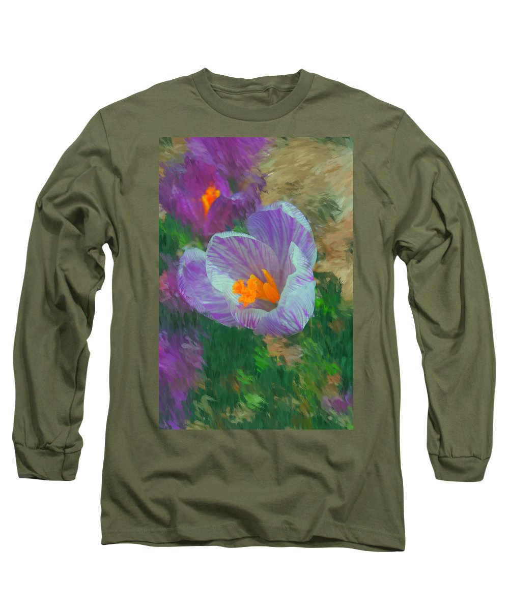 Digital Photography Long Sleeve T-Shirt featuring the digital art Spring Has Sprung by David Lane