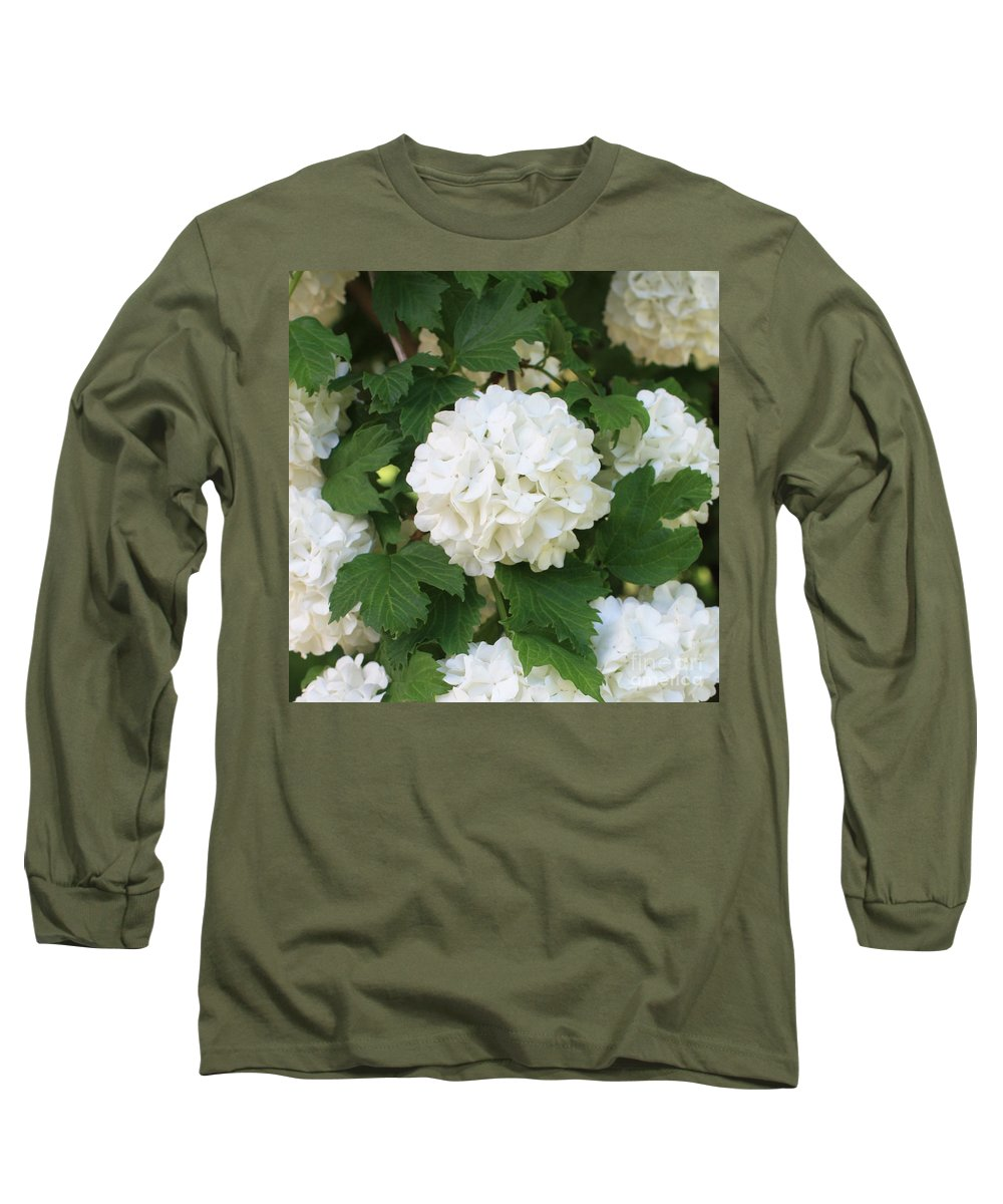 Snowball Long Sleeve T-Shirt featuring the photograph Spring Snowball by Carol Groenen