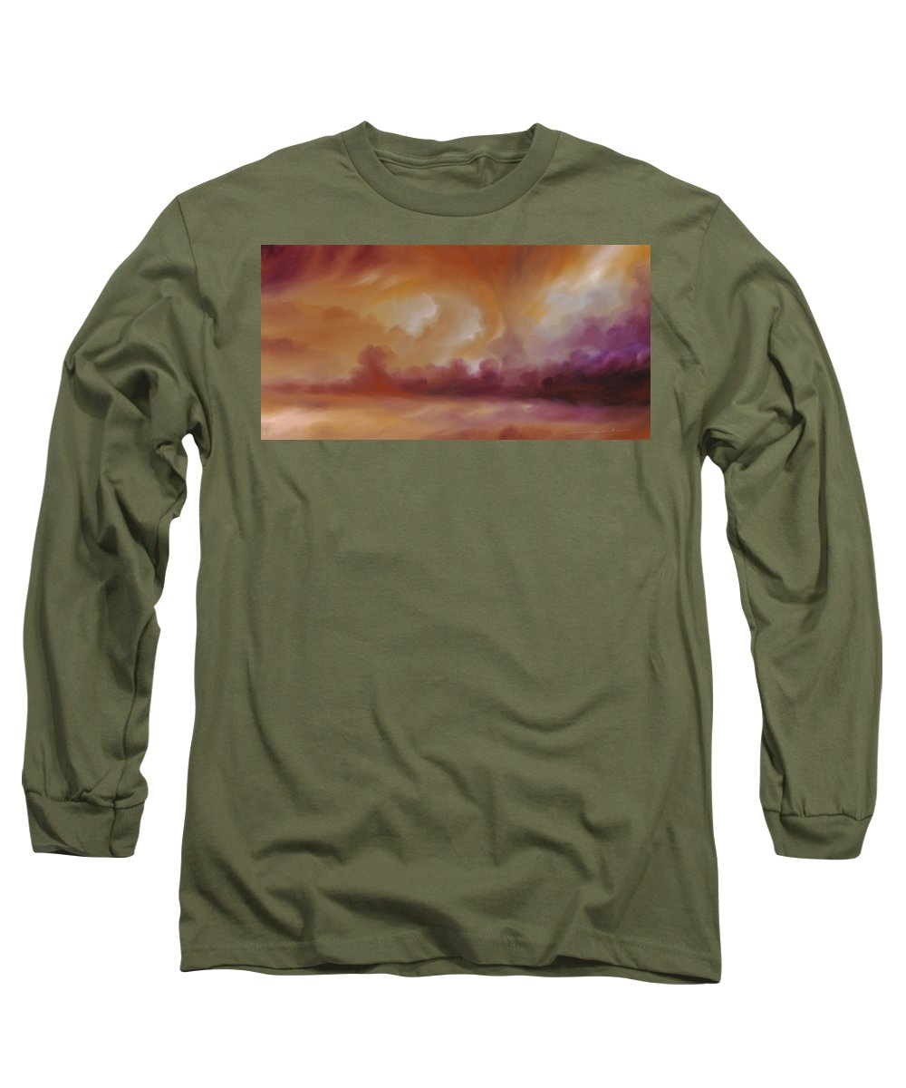 Tempest Long Sleeve T-Shirt featuring the painting Storm Clouds 2 by James Christopher Hill