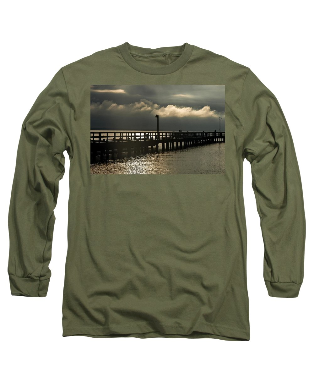 Clay Long Sleeve T-Shirt featuring the photograph Storms Brewin' by Clayton Bruster