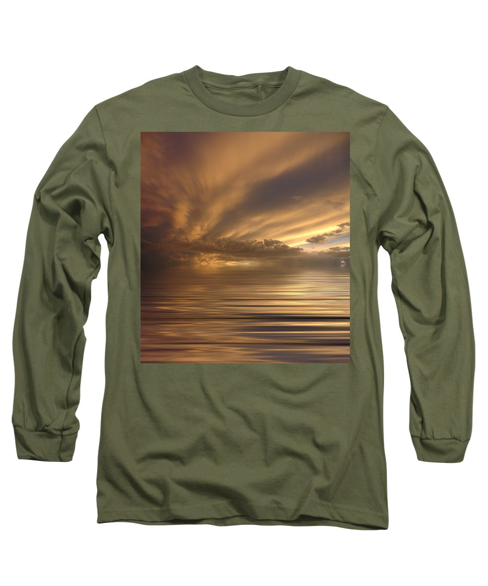 Sunset Long Sleeve T-Shirt featuring the photograph Sunset At Sea by Jerry McElroy