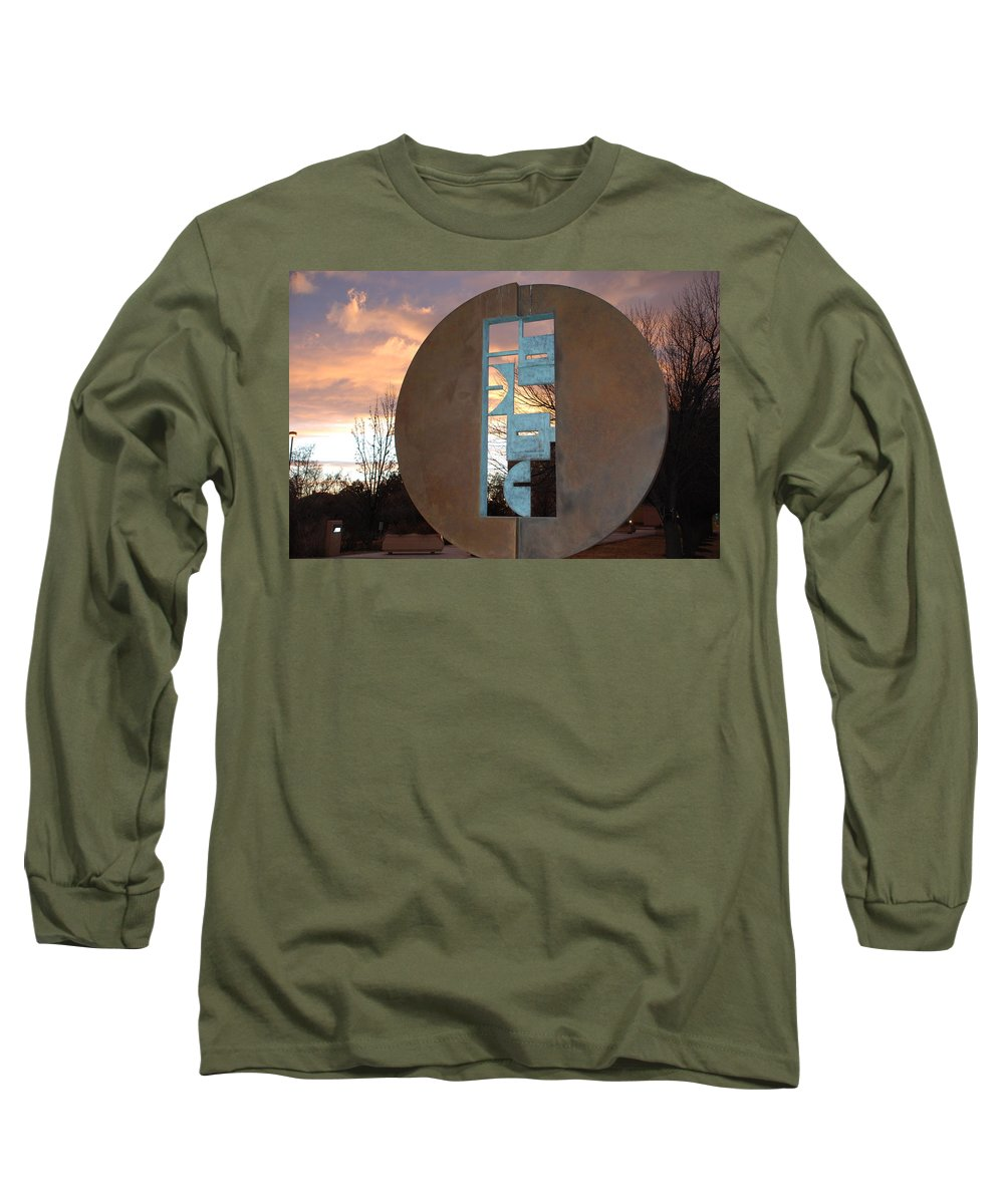 Pop Art Long Sleeve T-Shirt featuring the photograph Sunset Thru Art by Rob Hans