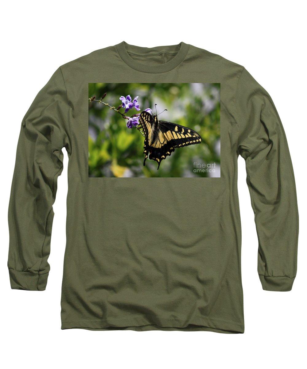 Swallowtail Butterfly Long Sleeve T-Shirt featuring the photograph Swallowtail Butterfly 2 by Carol Groenen