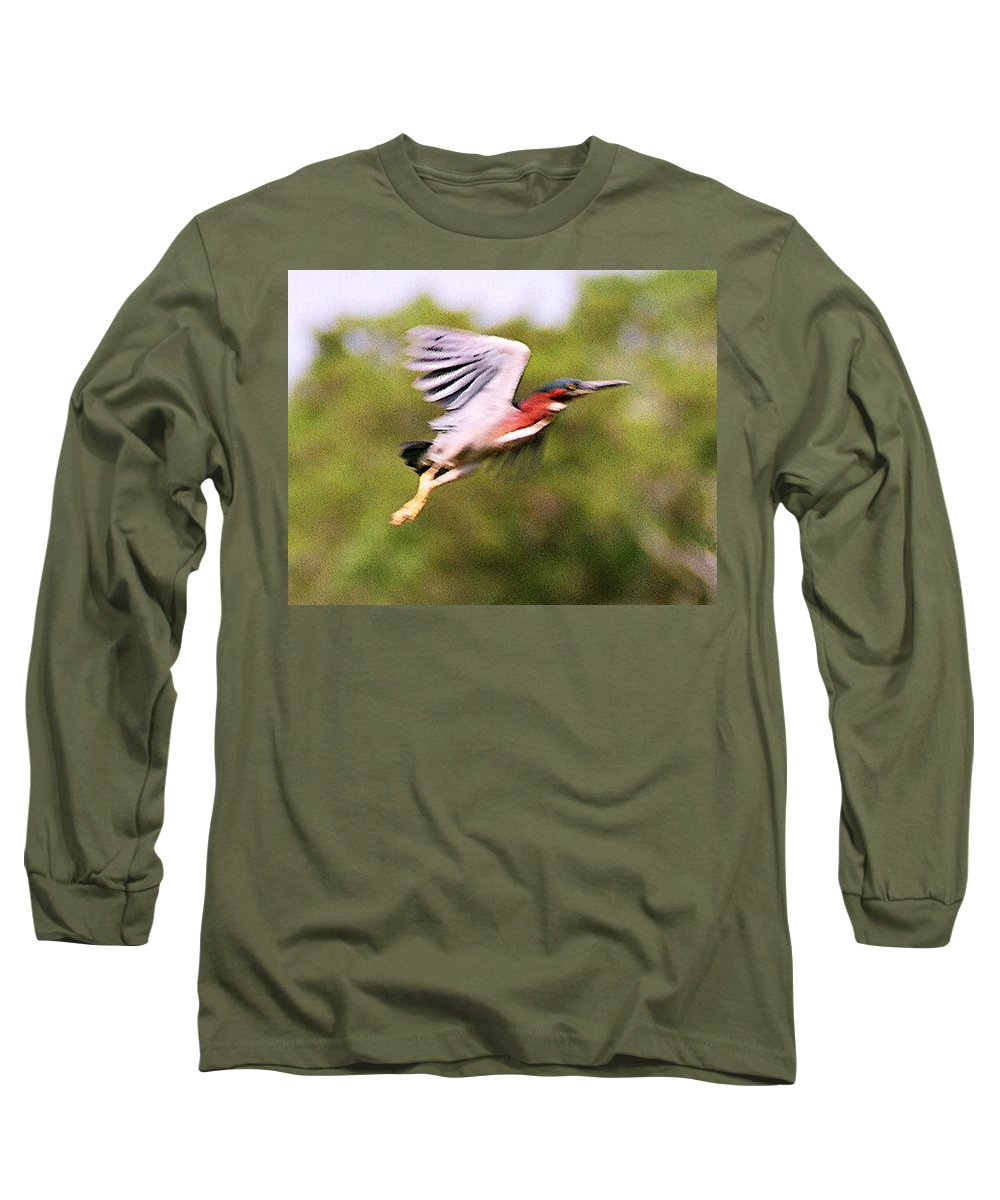 Wild Life Long Sleeve T-Shirt featuring the digital art Take Off by Steve Karol