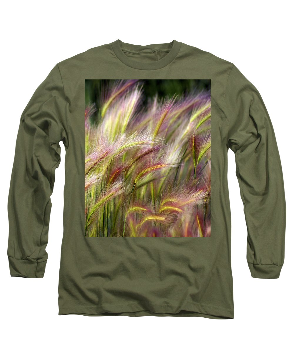 Plants Long Sleeve T-Shirt featuring the photograph Tall Grass by Marty Koch