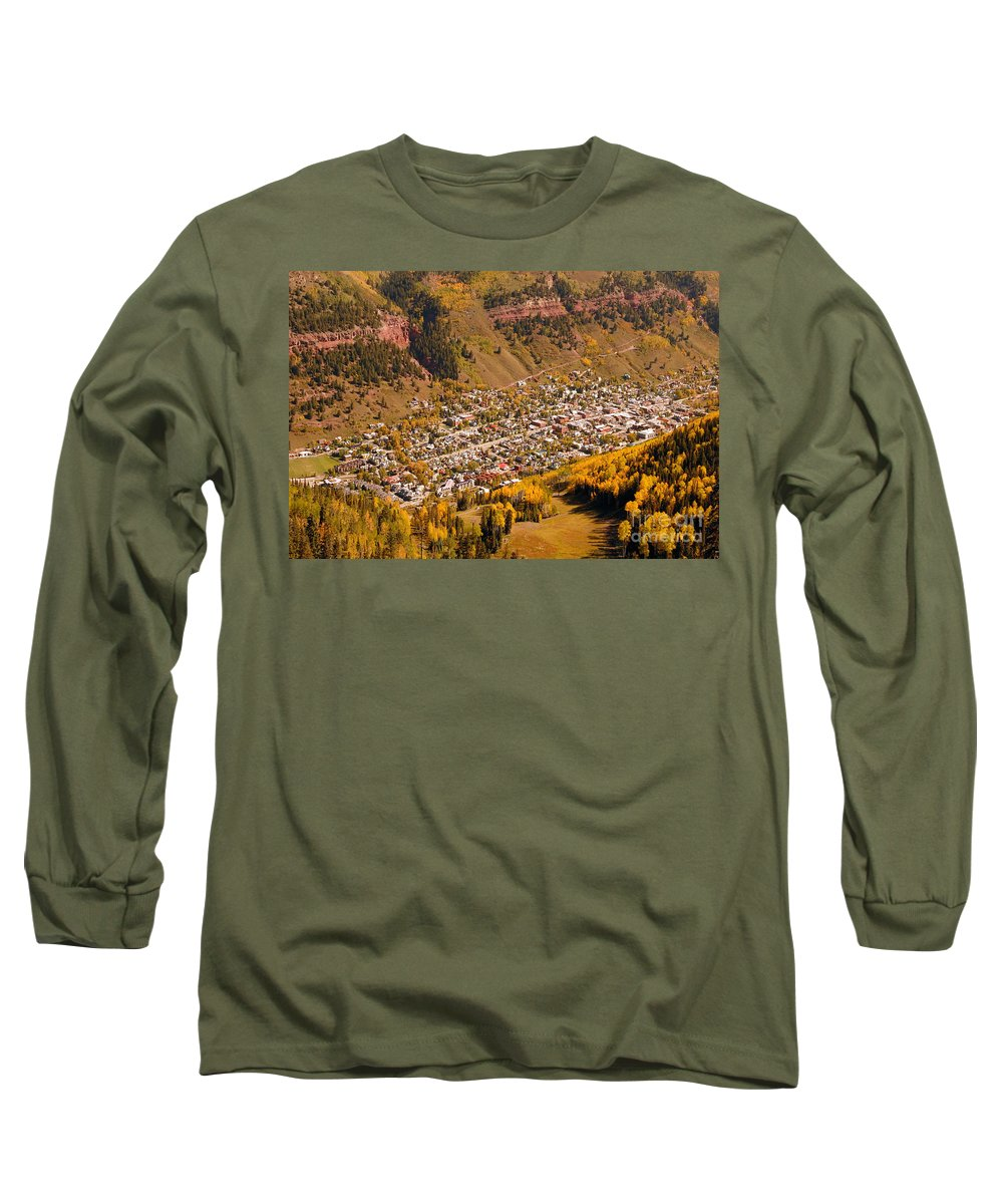 Telluride Colorado Long Sleeve T-Shirt featuring the photograph Telluride by David Lee Thompson