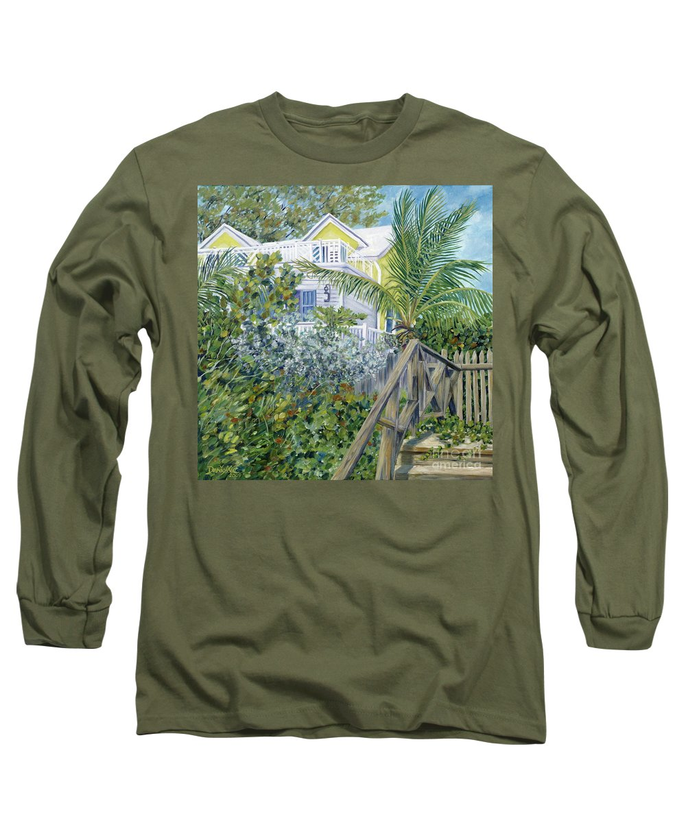 Beach House Long Sleeve T-Shirt featuring the painting The Beach House by Danielle Perry