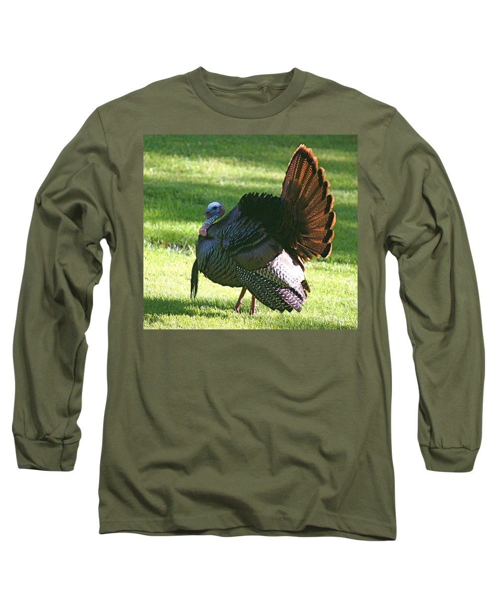 Turkey Long Sleeve T-Shirt featuring the photograph The Big Tom by Robert Pearson
