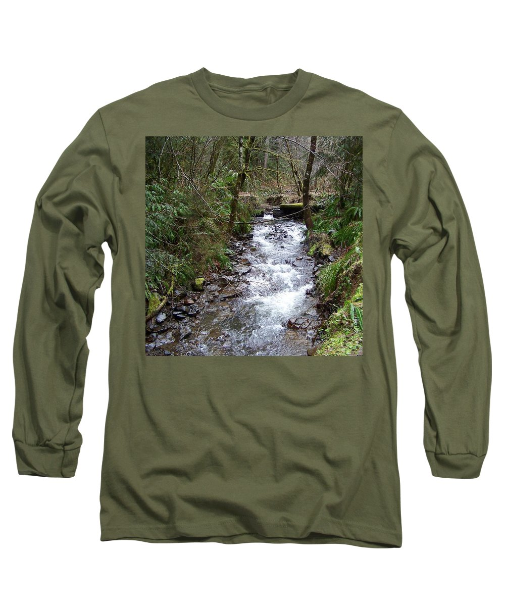 Digital Photography Long Sleeve T-Shirt featuring the photograph The Creek by Laurie Kidd