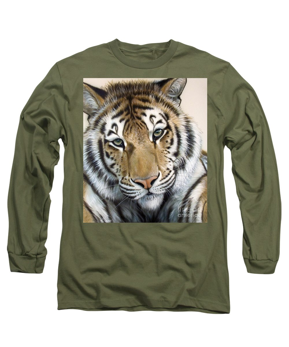 Acrylic Long Sleeve T-Shirt featuring the painting The Embrace by Sandi Baker