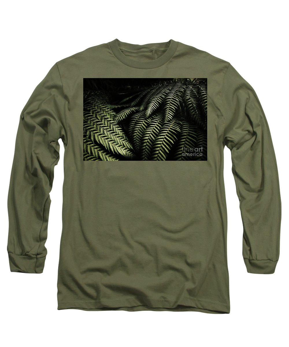 Rainforest Long Sleeve T-Shirt featuring the photograph The Exotic Dark Jungle by Jorgo Photography - Wall Art Gallery