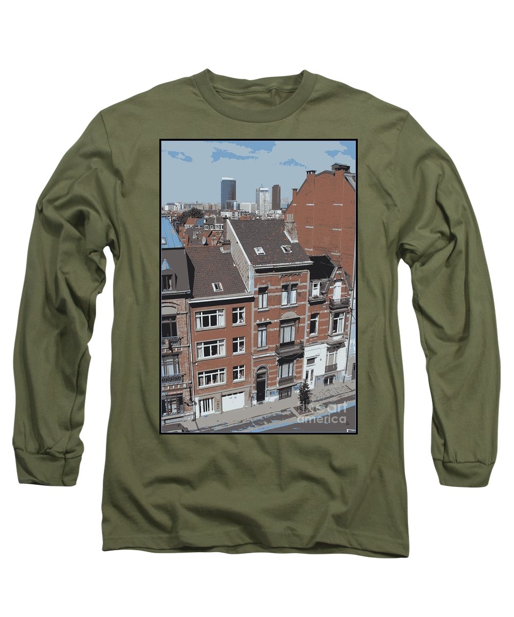 Brussels Long Sleeve T-Shirt featuring the photograph The Many Layers Of Brussels by Carol Groenen