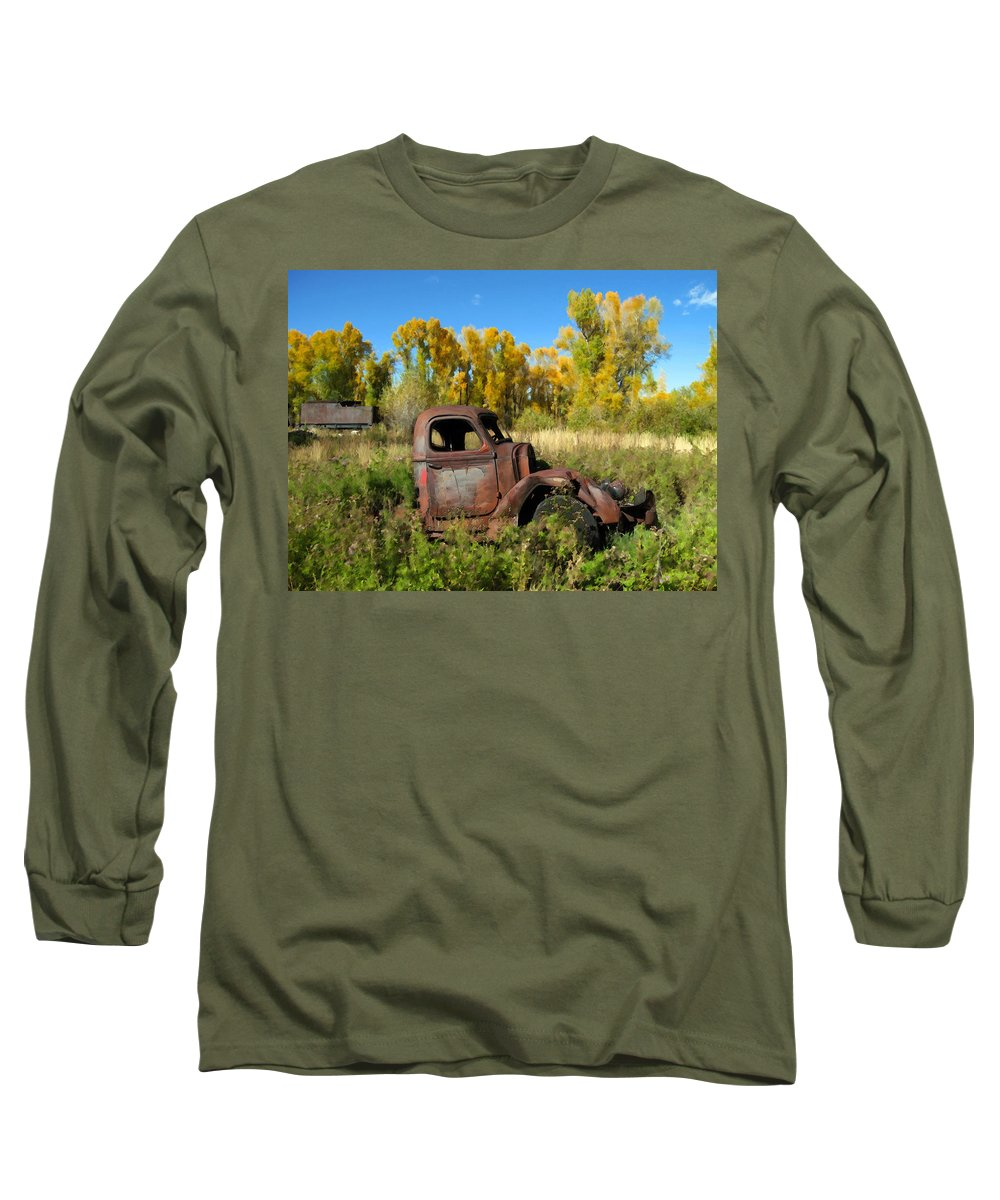 Truck Long Sleeve T-Shirt featuring the photograph The Old Truck Chama New Mexico by Kurt Van Wagner
