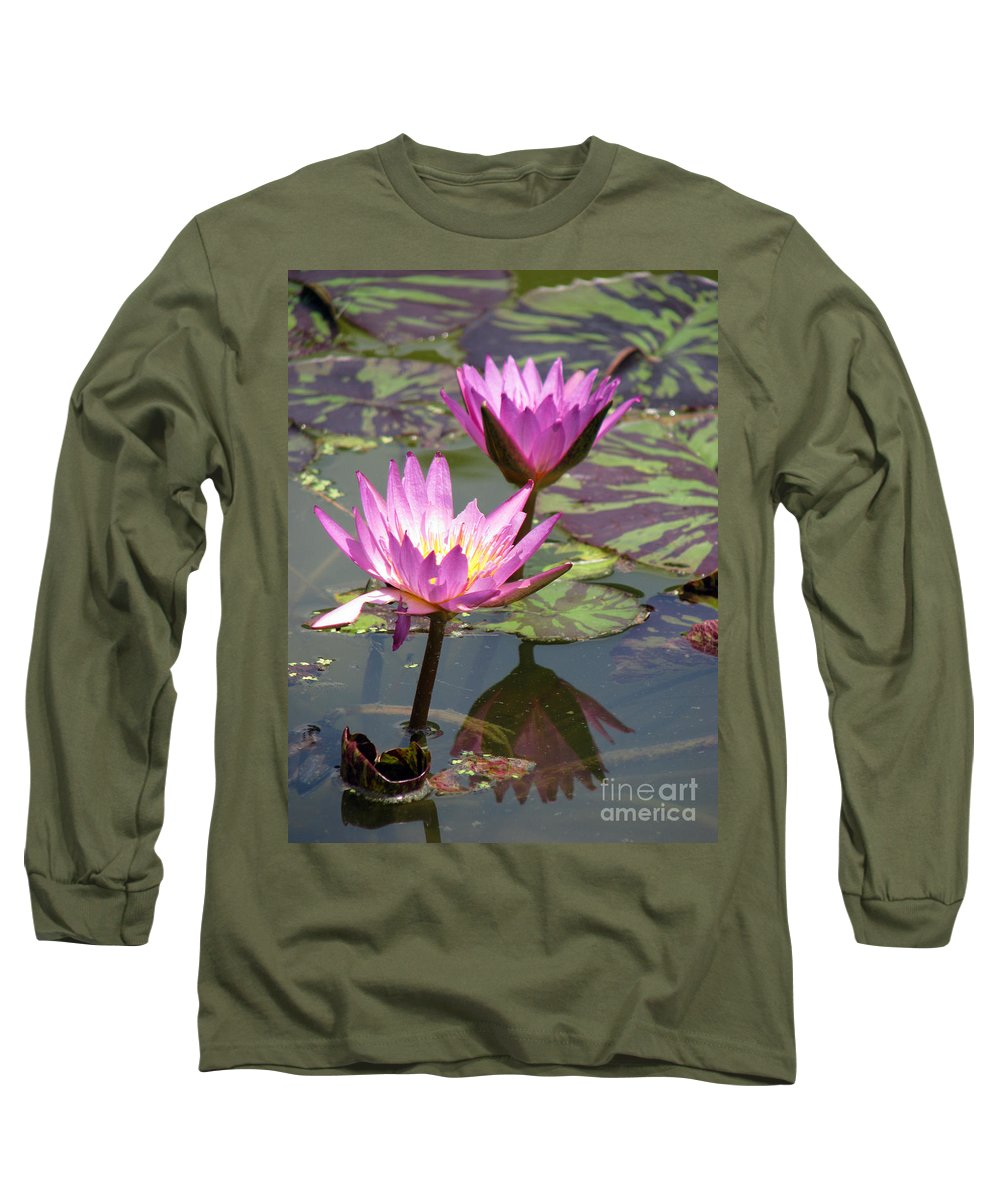 Lillypad Long Sleeve T-Shirt featuring the photograph The Pond by Amanda Barcon