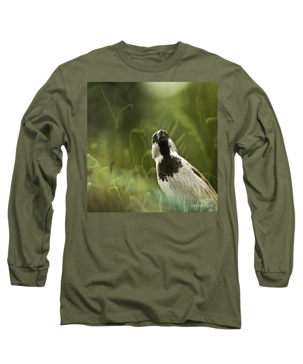 Sparrow Long Sleeve T-Shirt featuring the photograph The Sparrow by Angel Tarantella