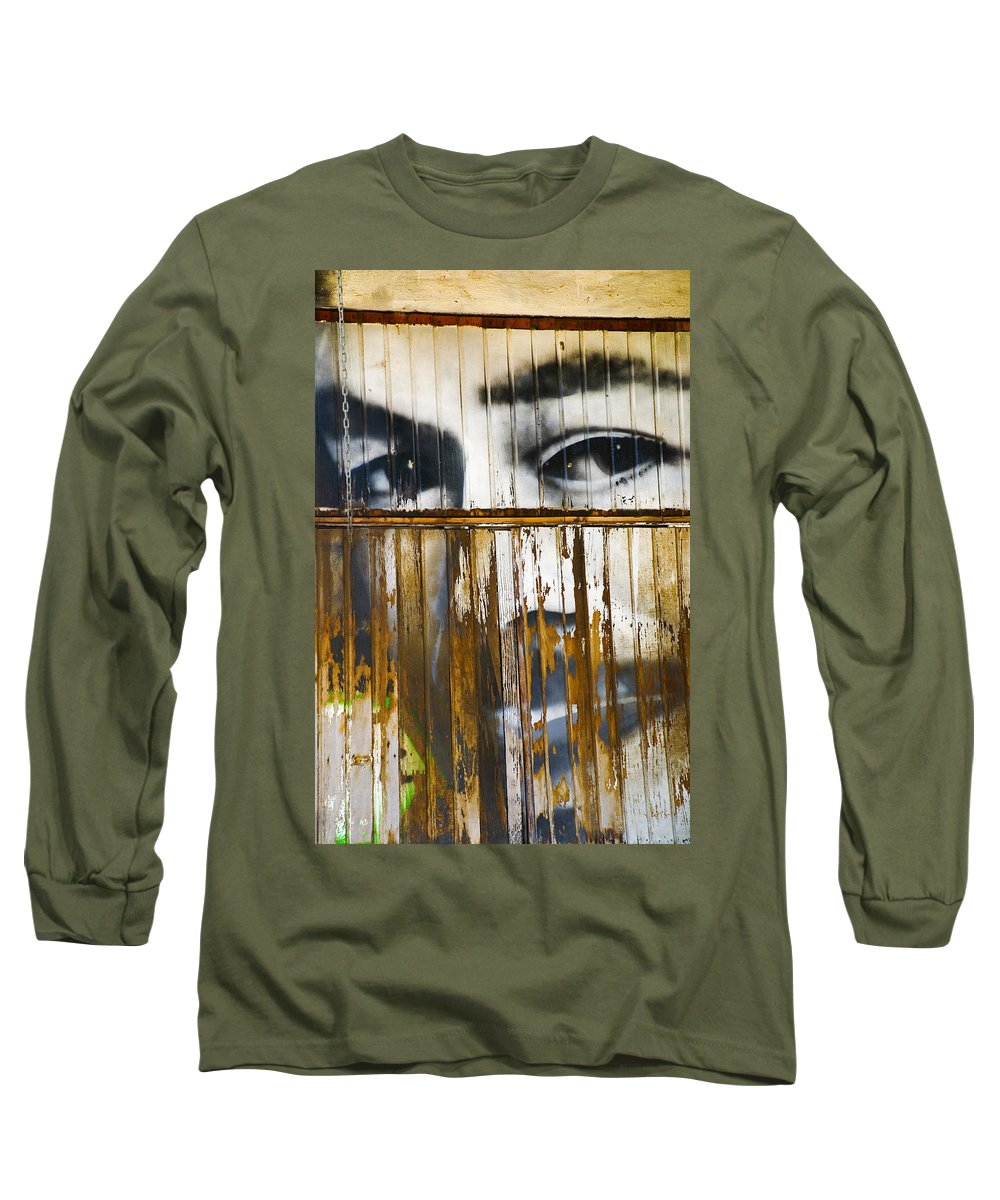 Escondido Long Sleeve T-Shirt featuring the photograph The Walls Have Eyes by Skip Hunt