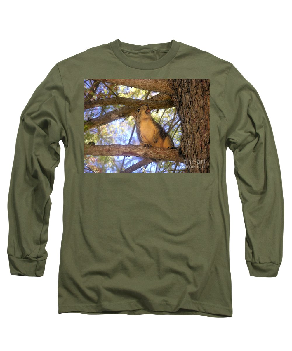 Nature Long Sleeve T-Shirt featuring the photograph The Winner by Lucyna A M Green