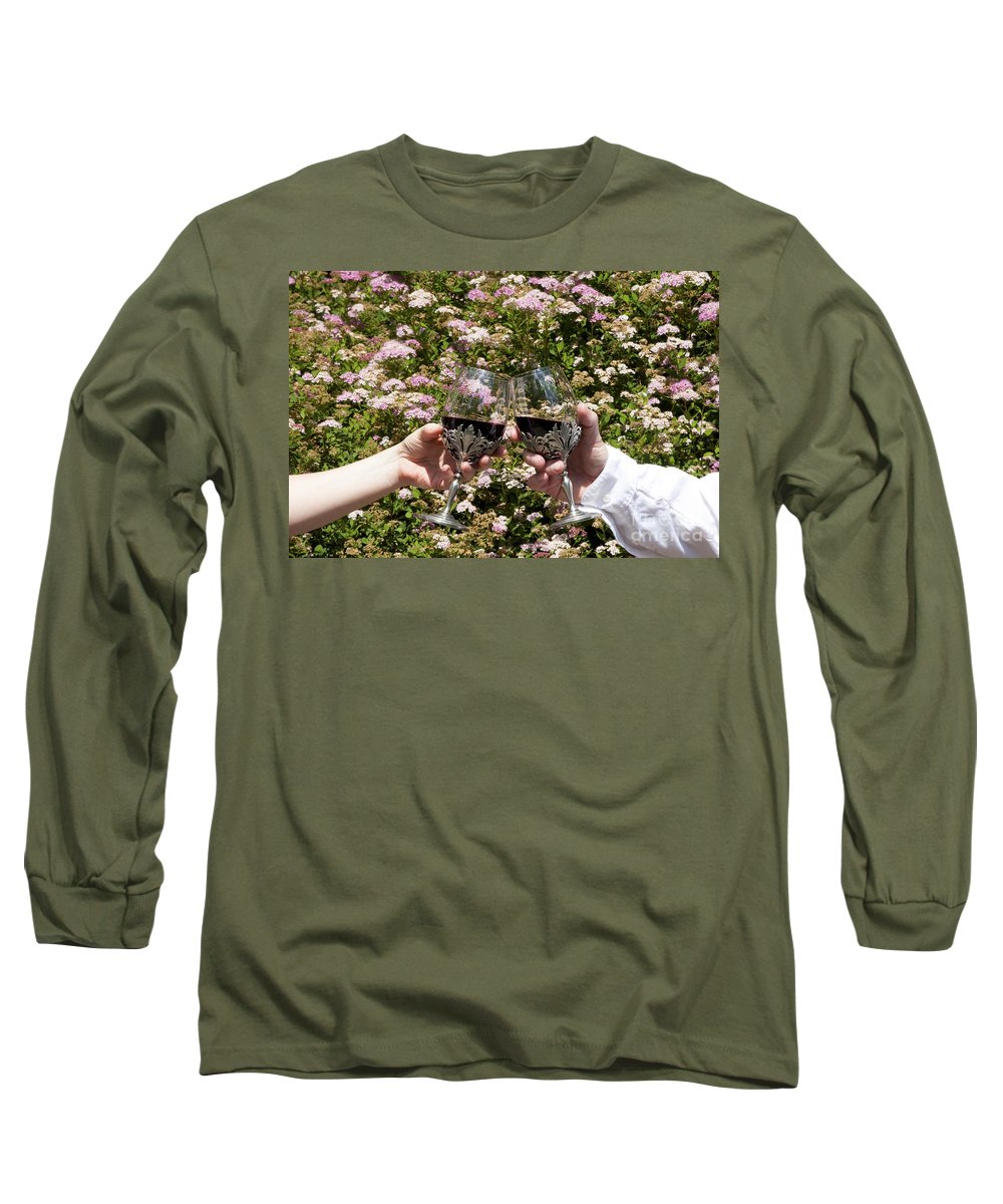 Alcohol Long Sleeve T-Shirt featuring the photograph Toast by Karen Foley
