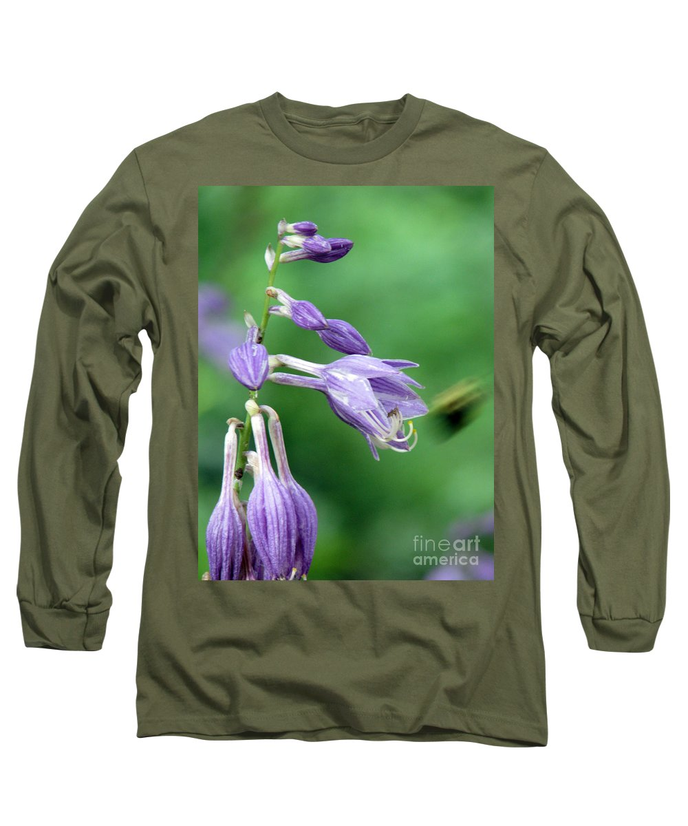 Bees Long Sleeve T-Shirt featuring the photograph Too Busy To Notice by Amanda Barcon