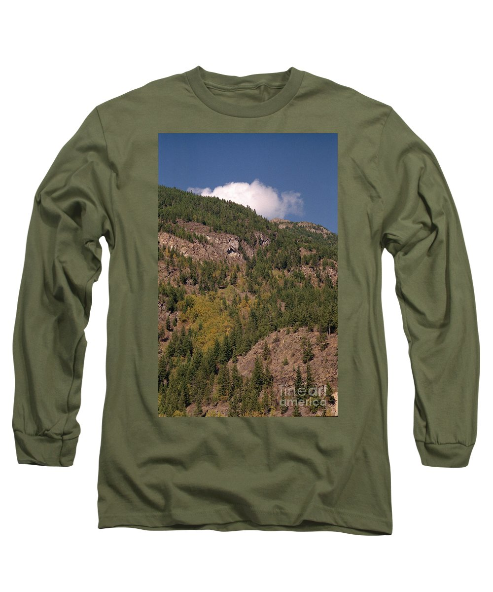 Mountains Long Sleeve T-Shirt featuring the photograph Touching The Clouds by Richard Rizzo