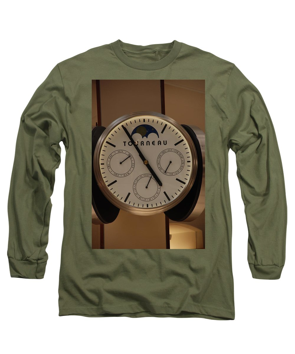 Clock Long Sleeve T-Shirt featuring the photograph Tourneau by Rob Hans