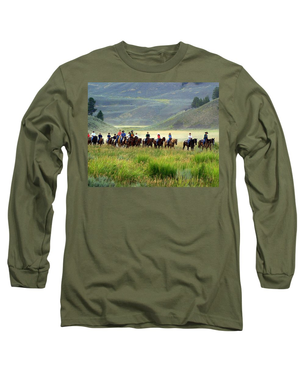 Trail Ride Long Sleeve T-Shirt featuring the photograph Trail Ride by Marty Koch
