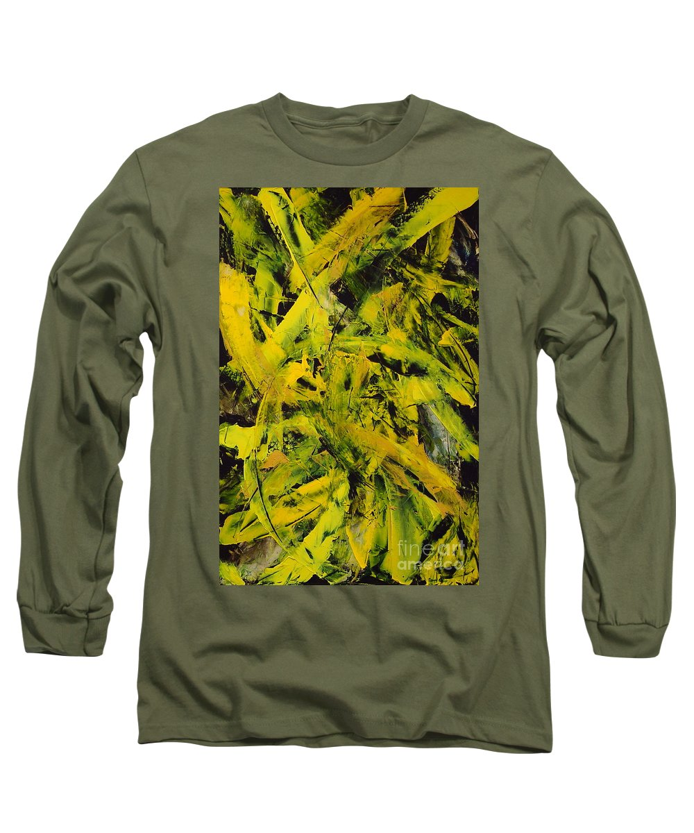 Abstract Long Sleeve T-Shirt featuring the painting Transitions Vi by Dean Triolo