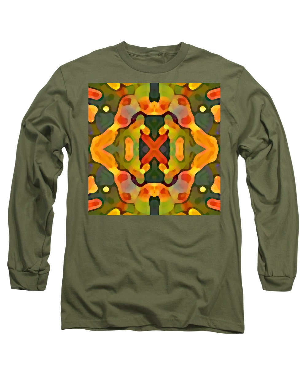 Abstract Long Sleeve T-Shirt featuring the painting Treasure by Amy Vangsgard