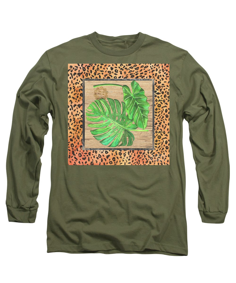 Palm Long Sleeve T-Shirt featuring the painting Tropical Palms 2 by Debbie DeWitt