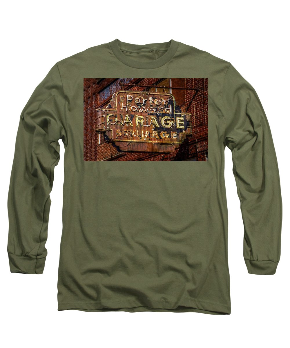 Rusty Sign Long Sleeve T-Shirt featuring the photograph Trust In Rust by Linda Unger