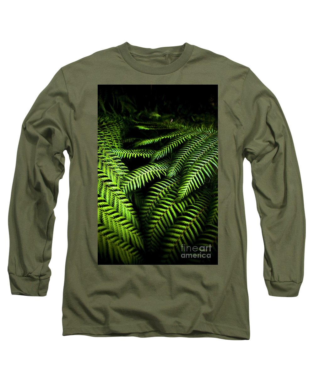 Fern Long Sleeve T-Shirt featuring the photograph Twilight Rainforest Fern by Jorgo Photography - Wall Art Gallery