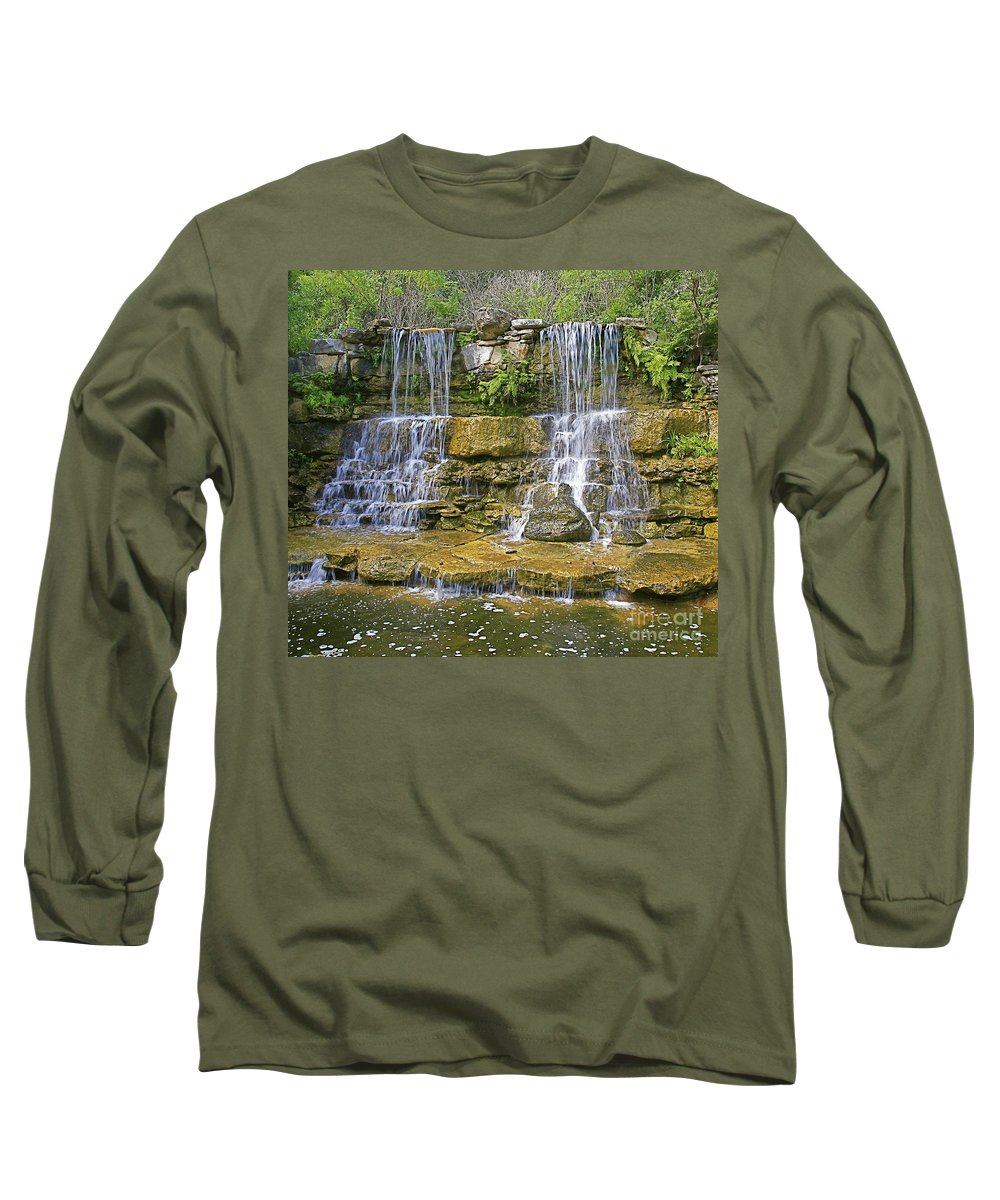 Waterfalls Long Sleeve T-Shirt featuring the photograph Twin Falls by Robert Pearson